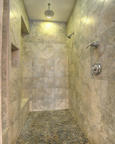 Ponderosa Pine Walk In Shower